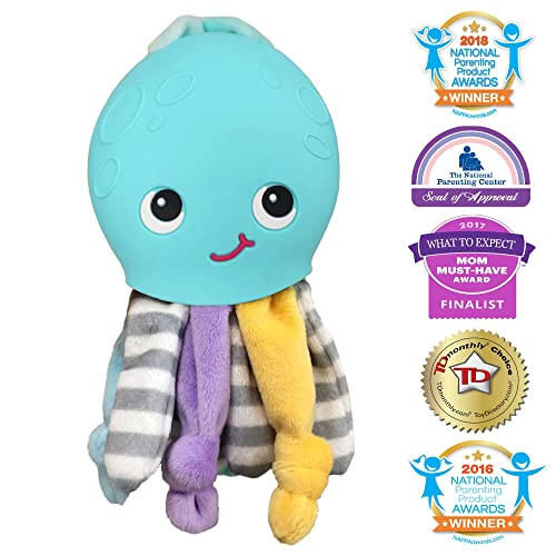 Silli Chews Gift 2 in 1 Octopus Friend Cute Soft Plush Funny Baby Toy and  Silicone e767390f86ab
