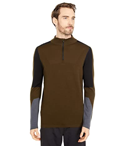 Smartwool Intraknit Merino 250 Thermal 1/4 Zip (Military Olive) Men