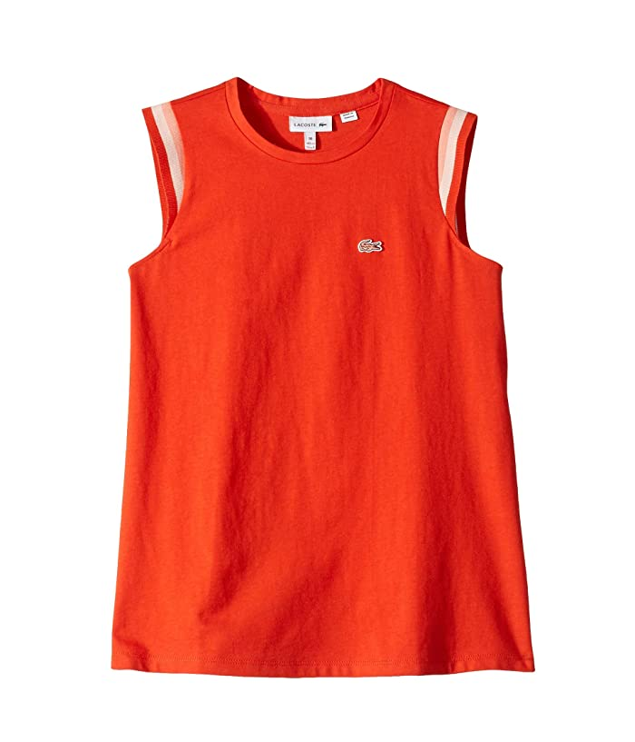 Lacoste Kids Sleeveless Athleisure Tee Shirt (Toddler/Little Kids/Big Kids) (Salvia) Girl
