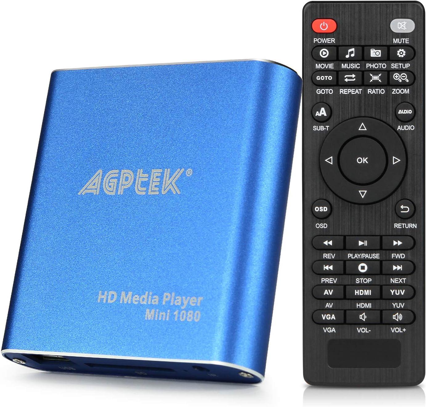 HDMI Media Player Translated Blue Mini Full-HD Ultra MP4 1080p Gifts