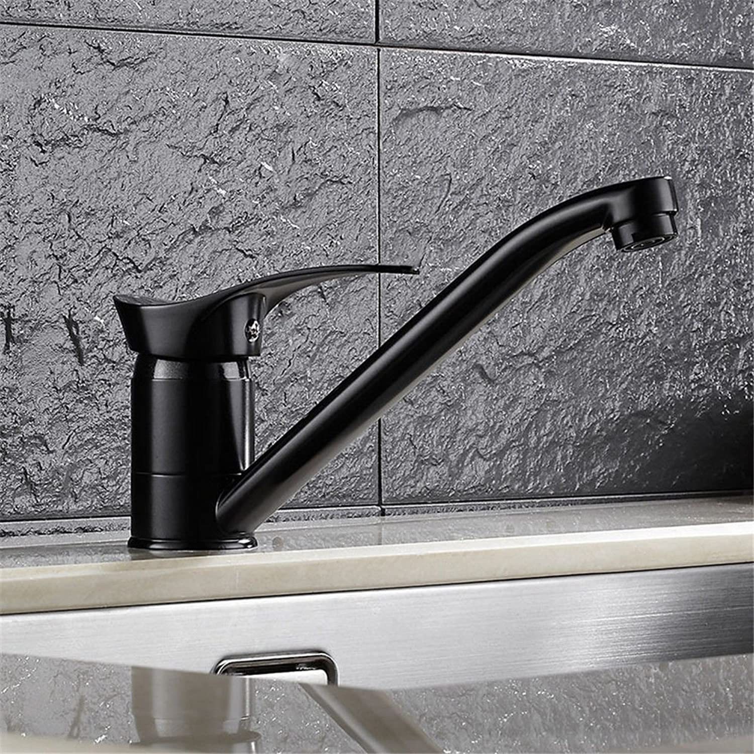 IJIAHOMIE Style of Bathroom Sink Taps, Bathroom Faucets,Waterfall Basin Sink Mixer Tap Modern Copper Kitchen hot and Cold Sink Basin