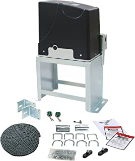 TOPENS DKC1000 Automatic Sliding Gate Opener Kit Sliding Gate Motor for Heavy Duty Slide Gates Up to 1600 lbs. and 40 ft, Chain Driven Driveway Security Gate Operator, Battery Powered Solar Compatible