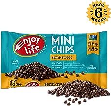 Enjoy Life Semi-Sweet, Dairy Free, Nut Free Vegan Chocolate Chips, 10 Ounce (Pack of 6)