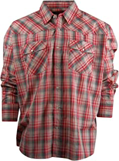 Canyon Guide Men's Long Sleeve Plaid Western Shirt | Easy Open Snap Front