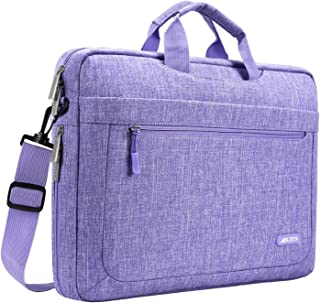 MOSISO Polyester Messenger Laptop Shoulder Bag Compatible 11.6-13.3 Inch MacBook Air, MacBook Pro, Notebook Computer, Briefcase Handbag Carrying Case Cover with Adjustable Depth at Bottom, Purple