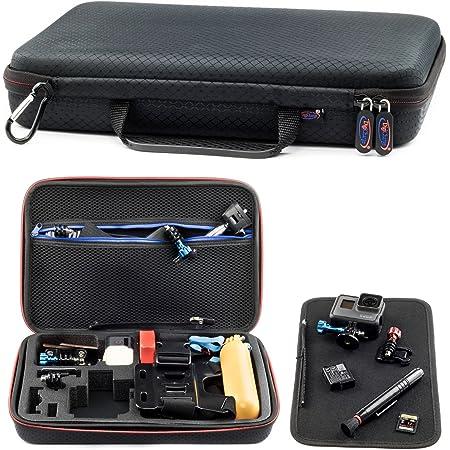 Digicharge Housse Étui Protection Sacoche pour GoPro Hero9 Max Hero8 Hero7 HERO6 6 4K HERO5 Hero 4 Session Mini Hero 9 8 7 6 5 4 3+ 3 2 1 Grand 34x24x7cm - Noir