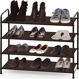 Simple Houseware 4-Tier Shoe Storage Rack Organizer, Bronze