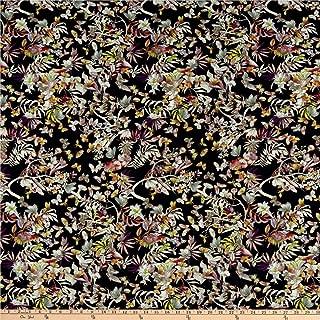 Telio Dakota Rayon Jersey Knit Floral Print Navy Multi, Fabric by the Yard