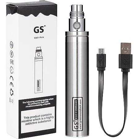 電子タバコ バッテリー 本体 2200mAh 底部充電 EGO CE4アトマイザー対応 ニコチン無し ハイクオリティ 充電可能電池 ロック解除 シルバー/silver WOLFTEETH