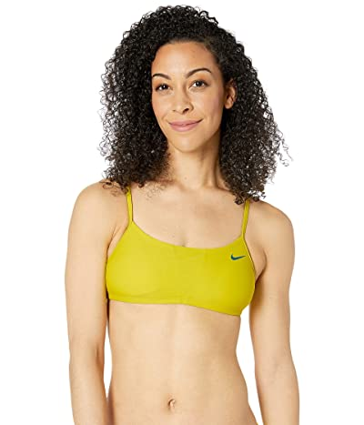Nike Solid Racerback Bikini Top (Bright Cactus) Women
