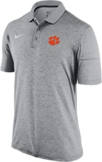 Knights Apparel Clemson Tigers NCAA Champion Trophy Mens Textured Polo Shirt