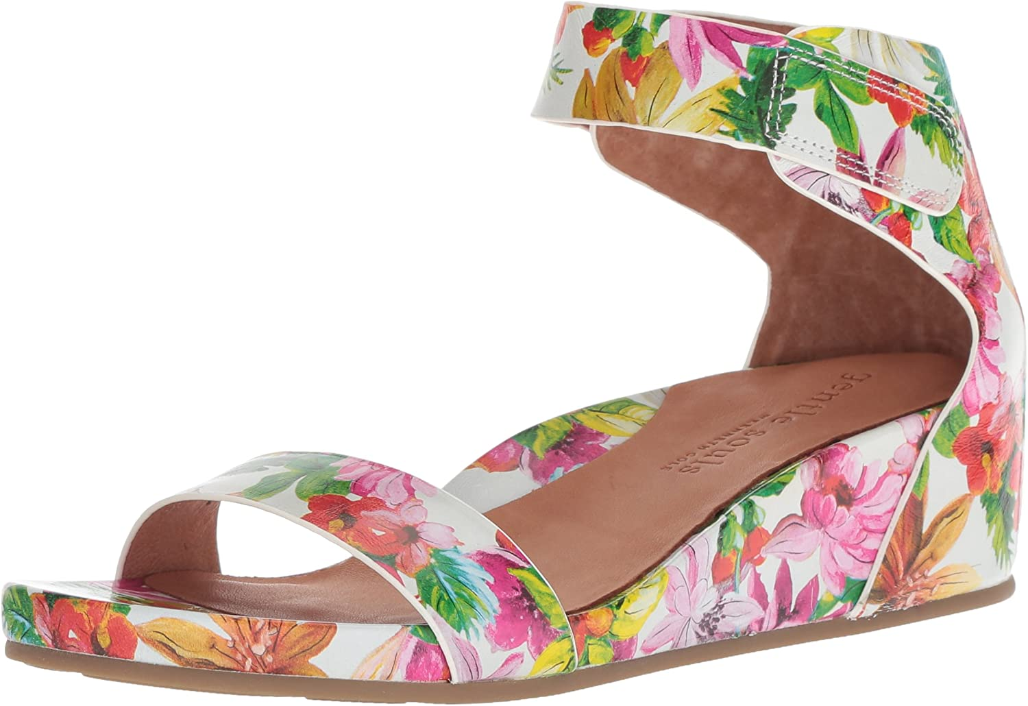 Gentle Souls Womens Gianna Wedge Sandal with Ankle Strap Wedge Sandal