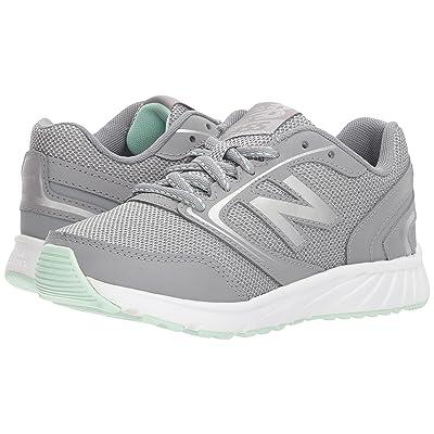 New Balance Kids KR455v1Y (Little Kid/Big Kid) (Grey/Seafoam) Girls Shoes