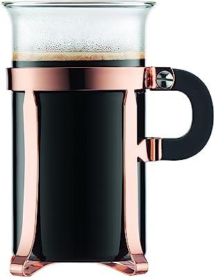 Bodum 4912-18 Chambord Classic 2 Piece Coffee Glass, 10 oz, Copper