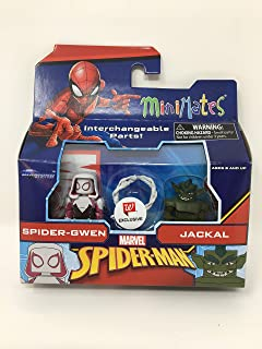 Spider Gameverse Dome Mini Figures into The Spider-Verse Bundle Spider-Gwen Spider-Ham /& Exclusive Stealth Miles Morales Water Bottle Comic Character Spider-Ham Van Domez Box Set 4 Peter Parker