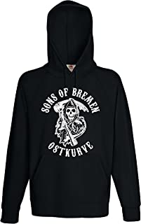 world-of-shirt / Fruit of the Loom World-of-Shirt Herren Kapuzensweat Sons of Bremen Ostkurve Hoodie XXL
