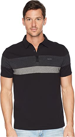 Liquid Touch Tricolor Blocked Polo