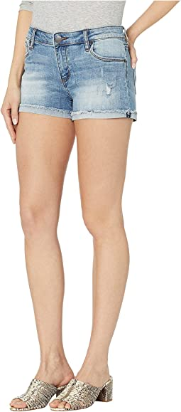 Molly Mid-Rise Boyfriend Shorts in Becraft