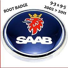 Emblema para maletero trasero de 68 mm, con logo de Saab (eMarkooz)