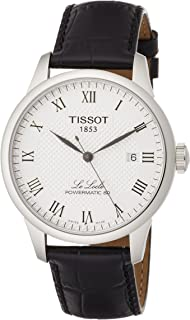 Tissot Powermatic 80 Silver Dial Black Leather Strap Men's Watch T0064071603300