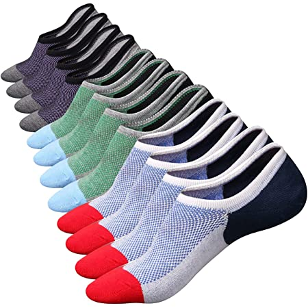 6 Pairs& 8 Pairs Mens No Show Socks Anti-slip Low Cut Cotton Socks Liner Invisible Casual Socks Comfortable Sneakers Socks Flats Boat Shoes Loafers