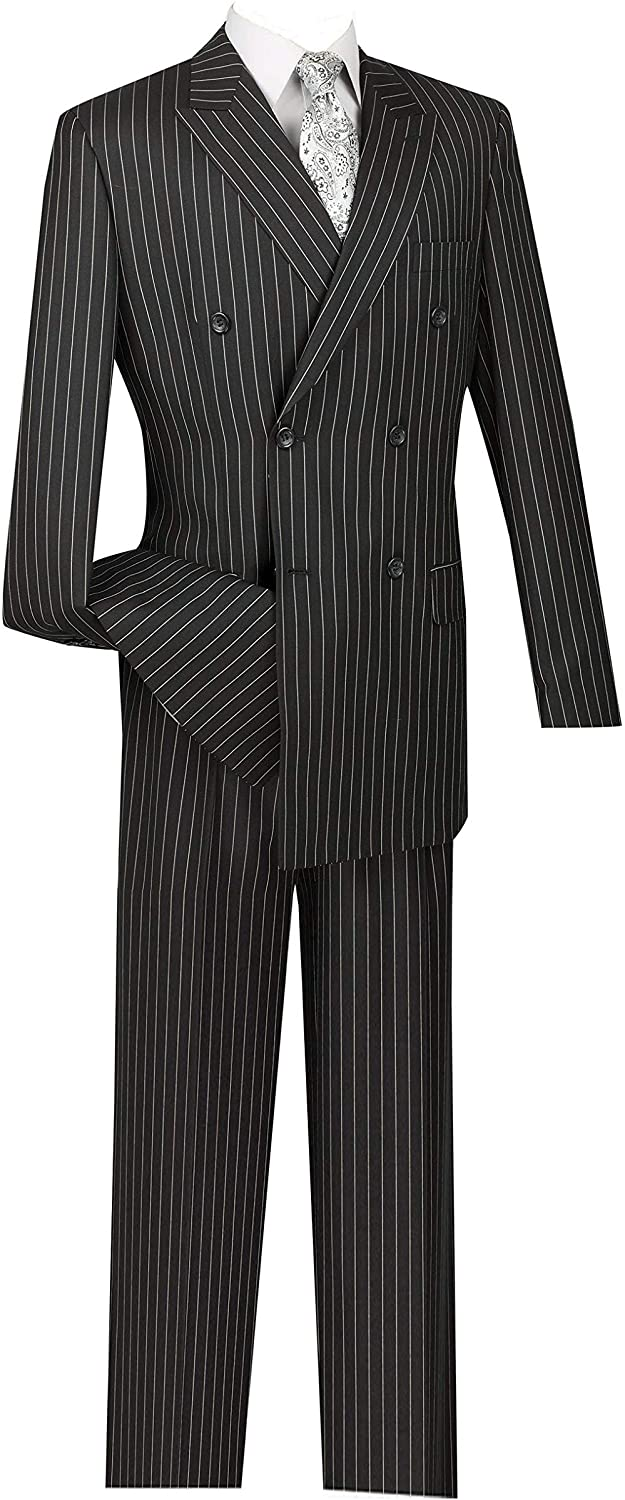 VINCI Men's Wool Feel 2021 autumn and winter new 6 Button Stripe Breasted Gangster S Double Super sale