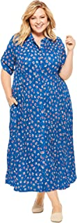 Woman Within Women's Plus Size Crinkle Shirtdress