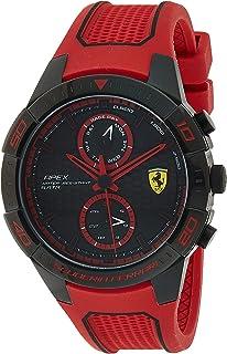 Ferrari Unisex-Adult Quartz Watch, Analog Display and Silicone Strap 830639