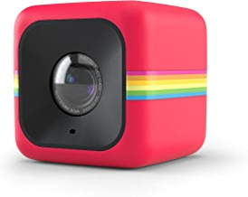 $117 Get Polaroid Cube+ 1440p Mini Lifestyle Action Camera with Wi-Fi & Image Stabilization (Red)