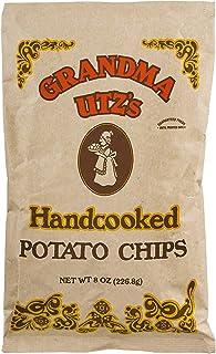 Grandma Utz's Handcooked Potato Chips 8 Oz (Pack of 6)