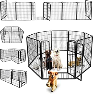 "ZENY 40"" Pet Playpens Heavy Duty Metal Dog Puppy Cat Exercise Fence Barrier Exercise Pen - 8 Panels"