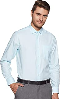 Louis Philippe Men's Checkered Regular fit Formal Permapress Shirt
