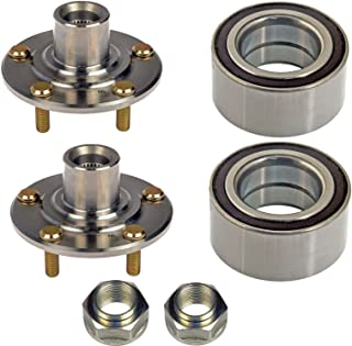 DTA D930450+NT510050 x2 Front Wheel Hub Wheel Bearing Kits Left Right Fits Acura TL CL RSX Type S Honda V6 Accord Element DX LX Only With Nuts