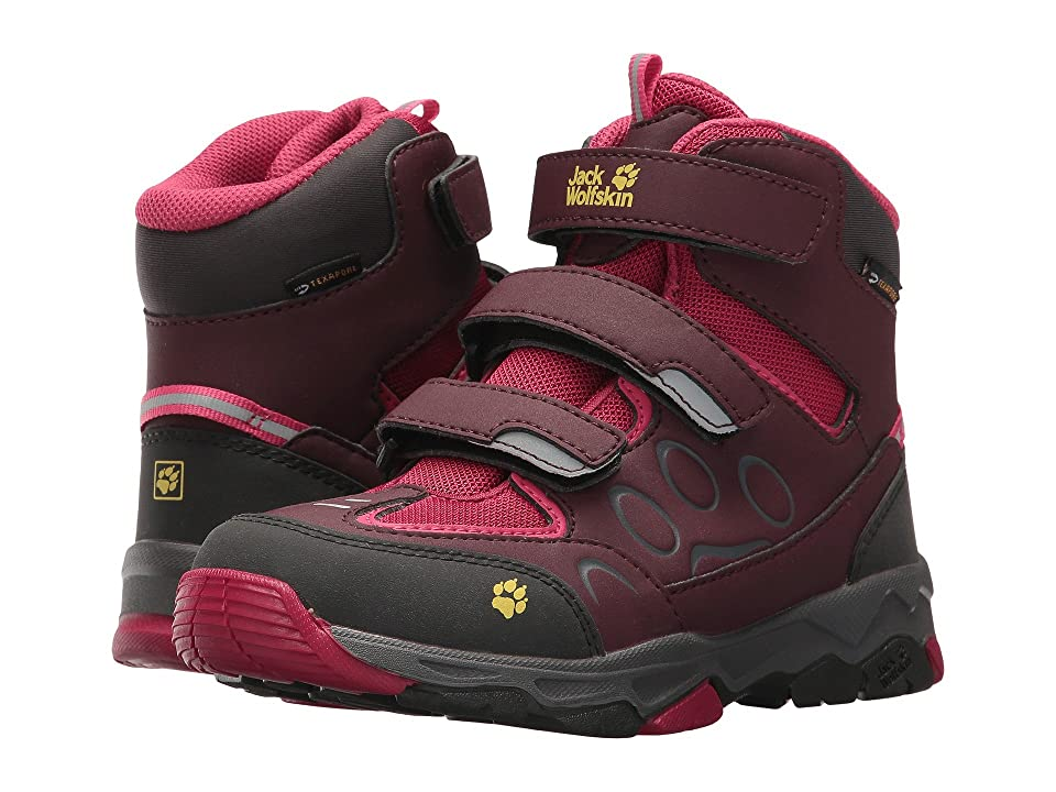 Jack Wolfskin Kids Mountain Attack 2 Waterproof Mid VC (Toddler/Little Kid/Big Kid) (Azalea Red) Kids Shoes