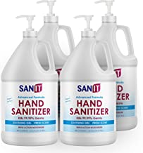 Sanit Moisturizing Hand Sanitizer Gel 70% Alcohol - Kills 99.99% Germs, Advanced Formula with Vitamin E and Aloe Vera - So...