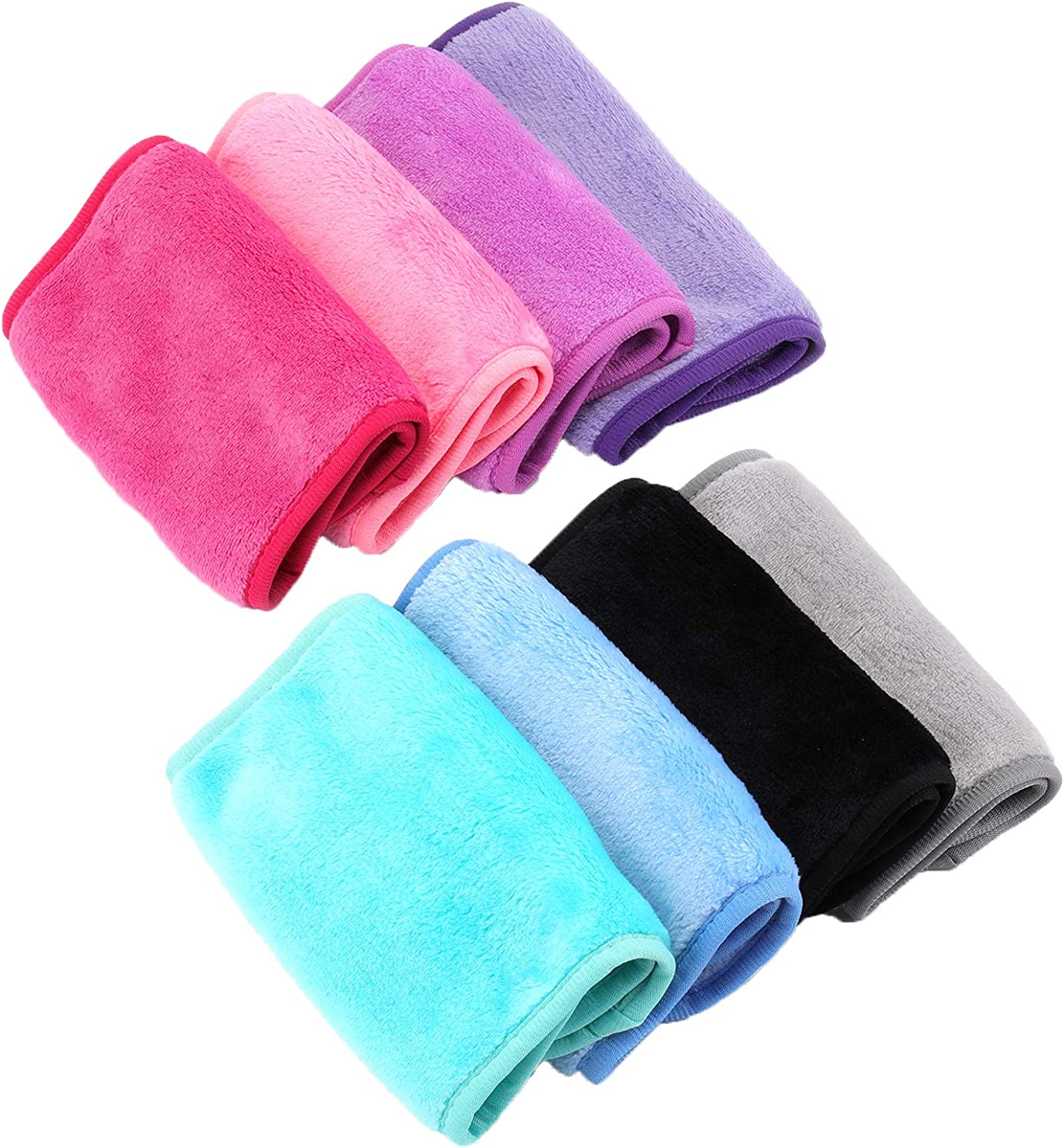 Bekith Sale price 8 Pack Makeup Remover New York Mall Reusable Cloth Cleansin Microfiber