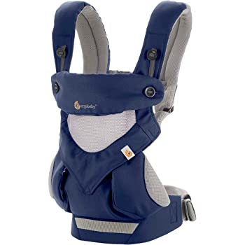 Ergobaby Carrier, 360 All Carry Positions Baby Carrier with Cool Air Mesh, French Blue