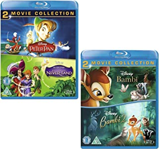 Peter Pan (I and II) - Bambi (I and II) - Walt Disney 4 Movie Bundling Blu-Ray