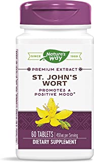 Nature's Way St. John's Wort Standardized Extract Mood Support, 450 mg Per Serving, Packaging May Vary, 60 Count