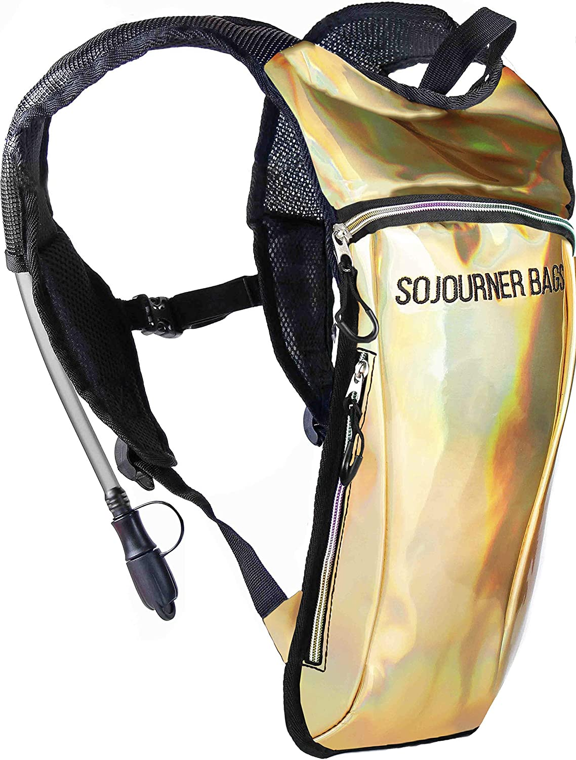 Sojourner Rave Hydration Pack Backpack2L Water Bladder Included for Festivals, Raves, Hiking, Biking, Climbing, Running and More (2 Pocket)