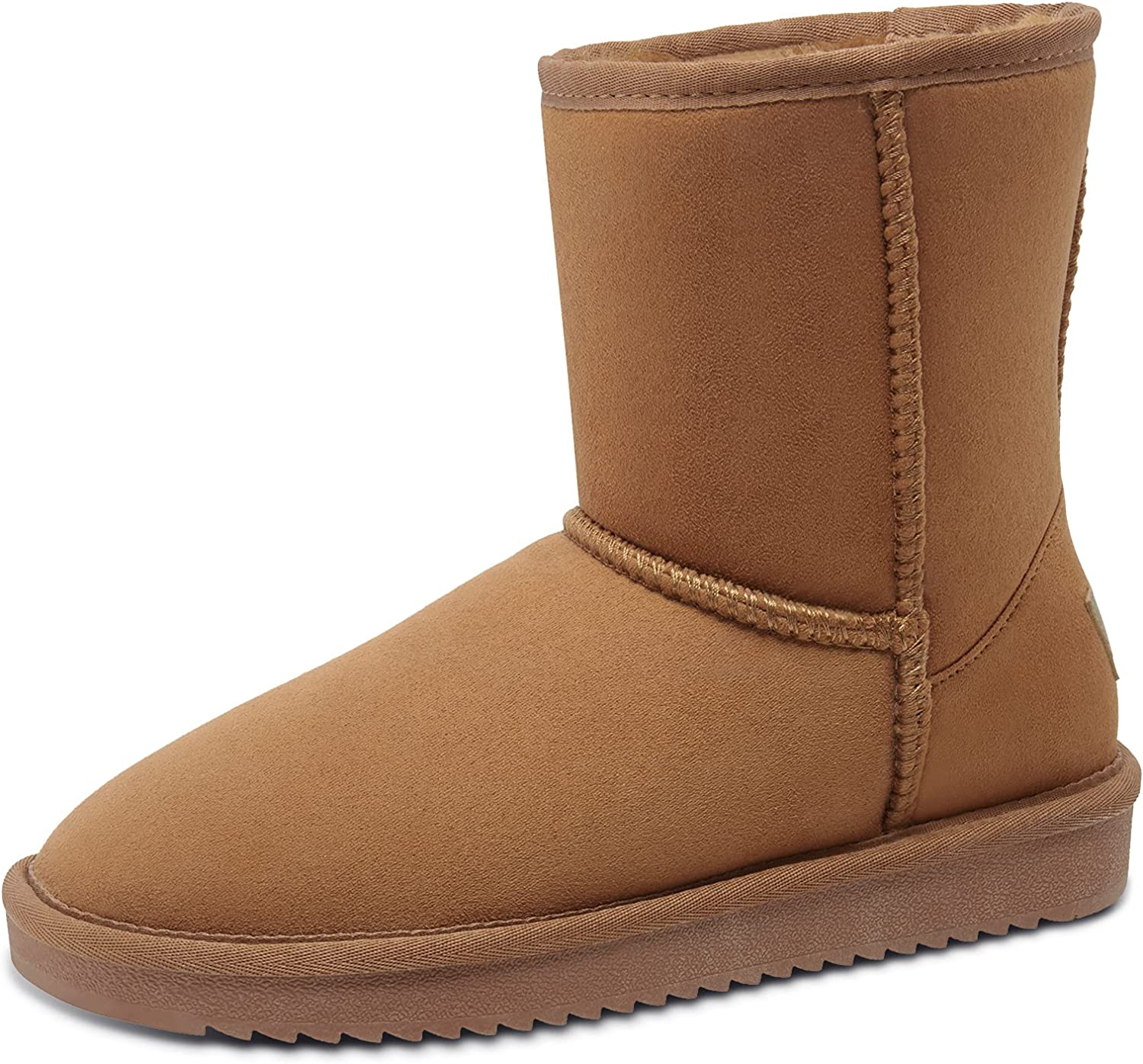 Women's Warm Winter Boots Ankle Max 64% OFF High Vegan Suede Sh Faux Classic Popular overseas