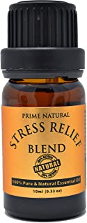 Stress Relief Essential Oil Blend 10ml - Natural Pure Undiluted Therapeutic Grade, Peace Calming Scents for...