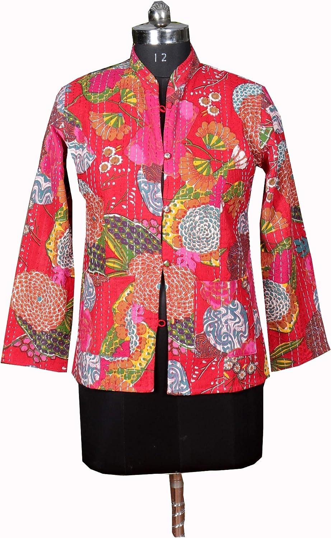 Kantha Jacket Vintage Cheap sale Indian Coat Jackets Reversible Online limited product Fo