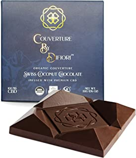Difiori Sweet Swiss Coconut Chocolate with 100 mg Hemp Extract