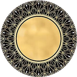 Amscan 591896 Glitz & Glam Metallic Dinner Plates Hollywood Theme-26cm-8 Pcs, Paper, Multicolor