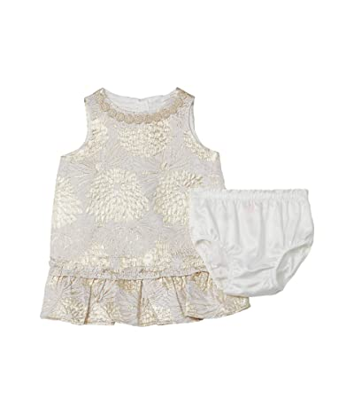 Lilly Pulitzer Kids Halden Dress (Infant) (Gold Metallic Full Bloom Brocade) Girl