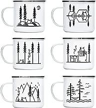 Camp Noggin | Classic Series | Enamel Camping Coffee Mug (15 Ounces) | 6 Unique Designs | Pick Your Favorite, or Collect The Set!