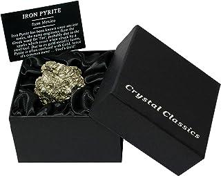CrystalAge Caja de regalo de pirita de hierro - pequeña