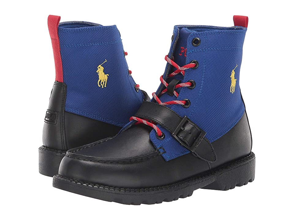 Polo Ralph Lauren Kids Ranger Hi II (Big Kid) (Black/Royal) Kid