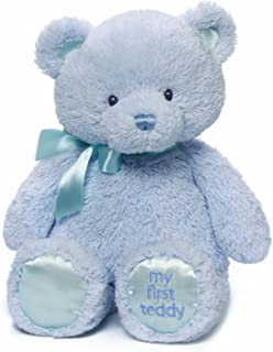 Baby GUND My First Teddy Bear Stuffed Animal Plush, Blue, 15